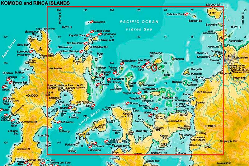 Mappa delle immersioni nel Parco